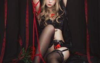 Coser@疯猫ss – Vol.011 黑色玫瑰[20P27M]